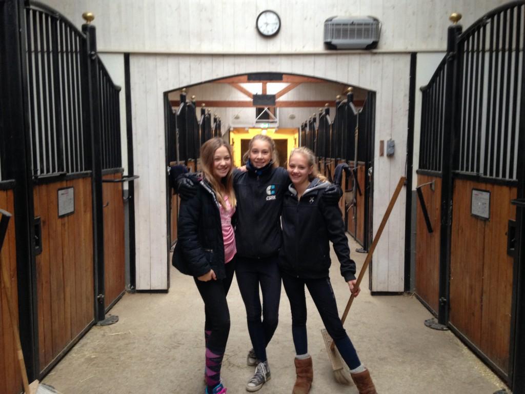 Maja S, Josephine W & Sara D. Lovisa L saknas på bilden.