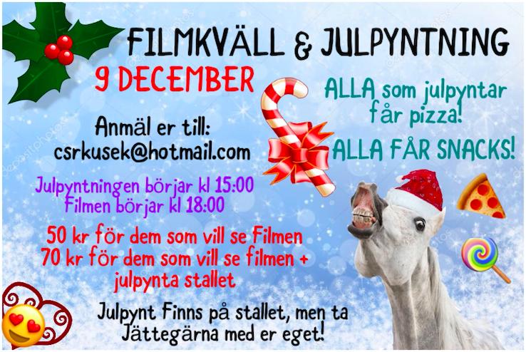 Julpyntning + Filmkväll 9/12